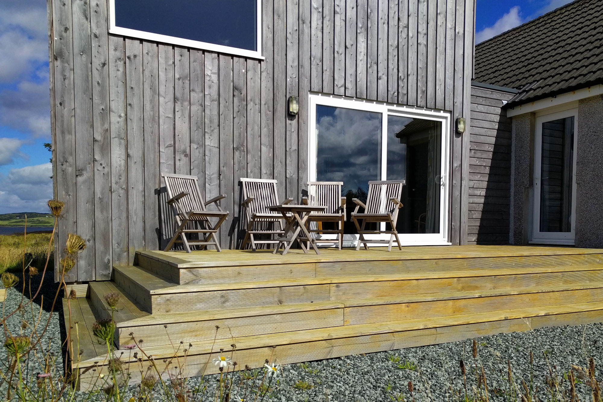 Cuan Beag south facing decking