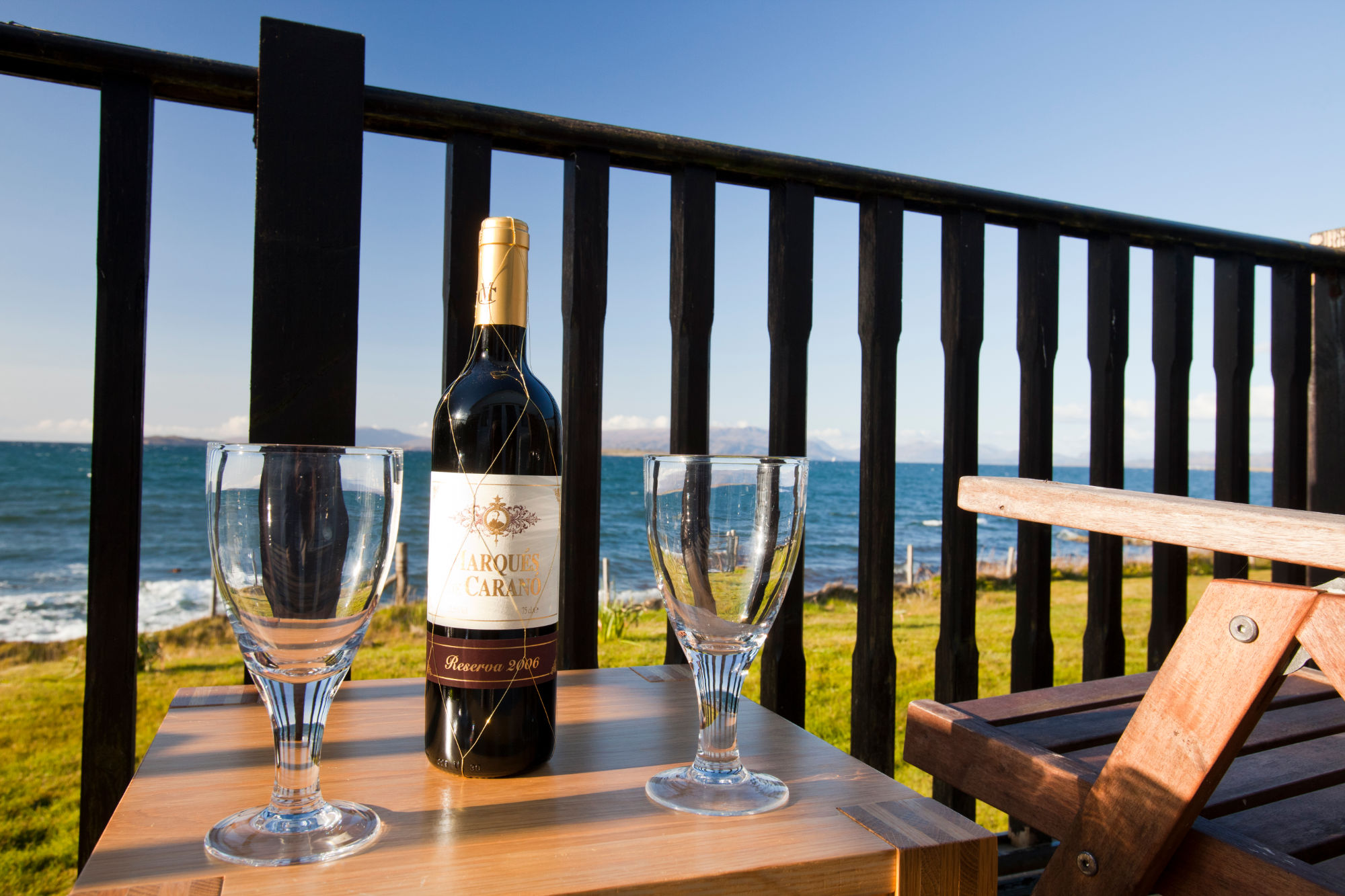 Summer view of front decking at Moeraki - photo courtesy of Global Warming Images