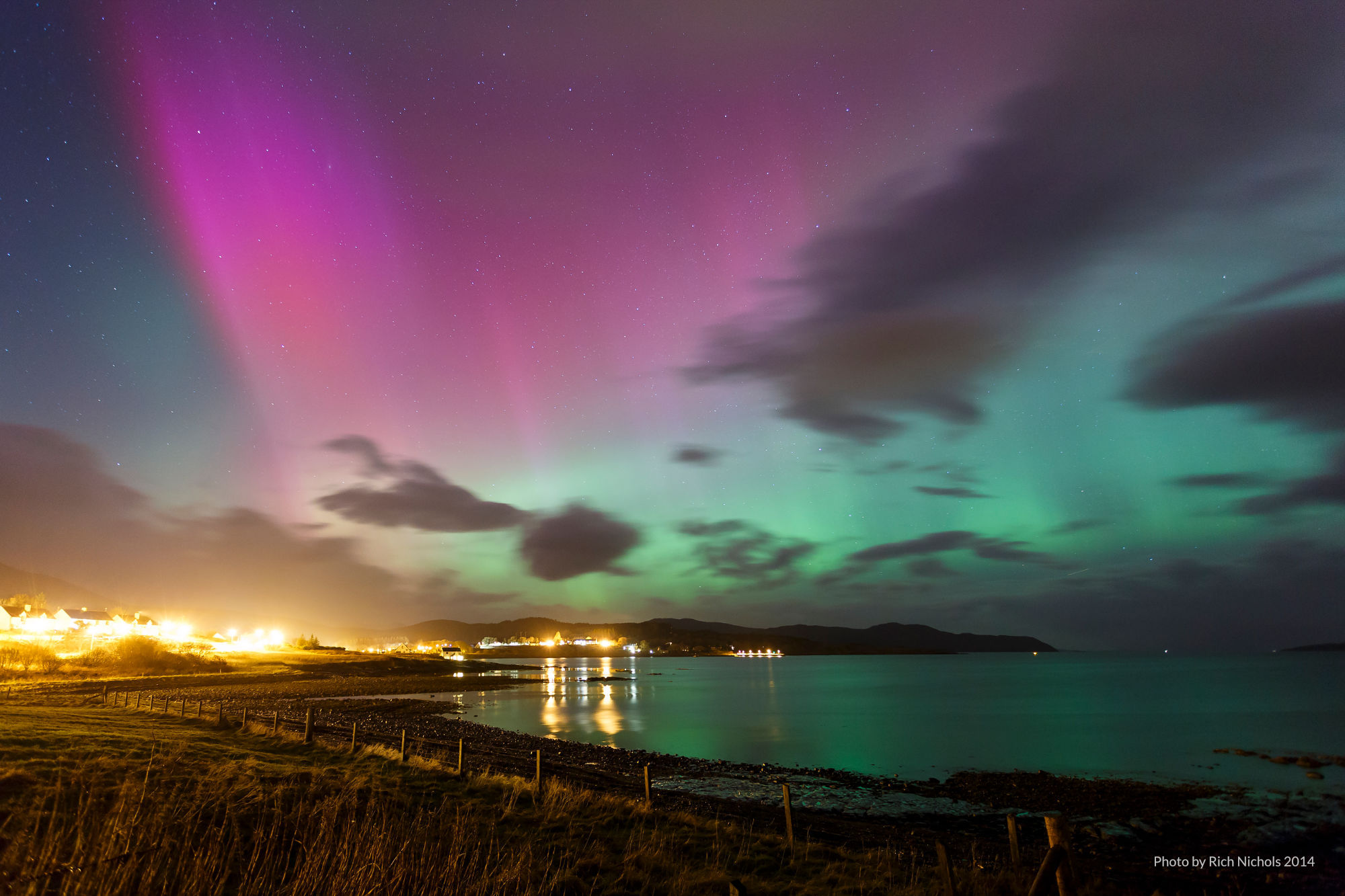 Aurora Borealis view from Moeraki by Rich Nichols 2014